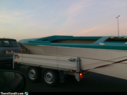 boat cars overkill towing wtf - 5697474048