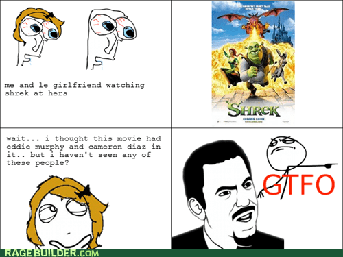 animated,gtfo,Rage Comics,shrek,women