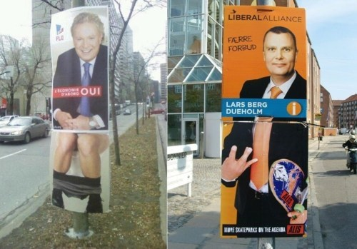 Election Billboard Add-on sign of the times Sticking It To The Man - 5697922048