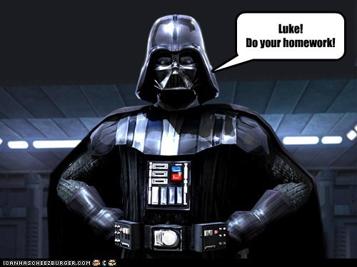 darth vader homework i am your father luke skywalker parenting star wars TV - 5698485760