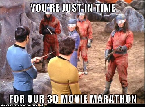 3d,Captain Kirk,Leonard Nimoy,marathon,Movie,Shatnerday,Spock,Star Trek,torture,William Shatner