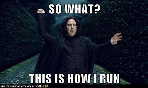 Alan Rickman,Harry Potter,running,snape,so what,this