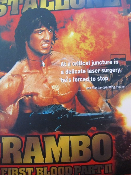 laser surgery,not the same,plotlines,rambo