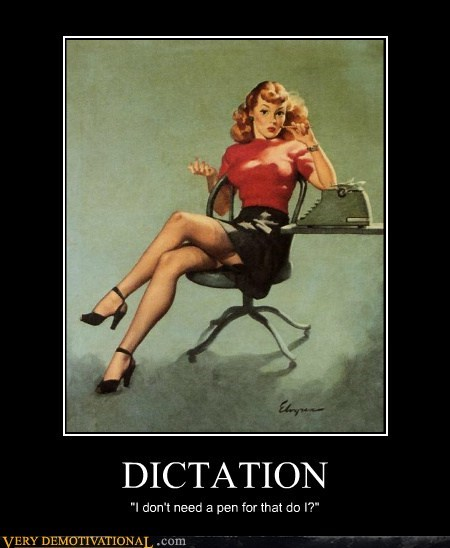 dictation Pure Awesome secretary Sexy Ladies typewriter - 5699031040