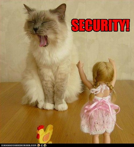 caption captioned cat do not want doll dolls security shouting