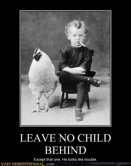 chicken hilarious kid no child left behind smoking trouble - 5699105024