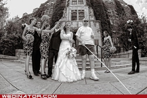 blind,bride,bridezilla,funny wedding photos