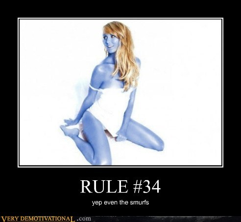 Pure Awesome Rule 34 Sexy Ladies smurfs - 5699496704