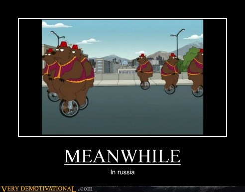 bears,Meanwhile,Pure Awesome,russia,unicycles