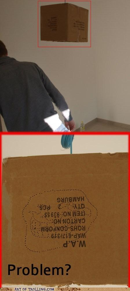 cardboard,IRL,lampshade,troll face