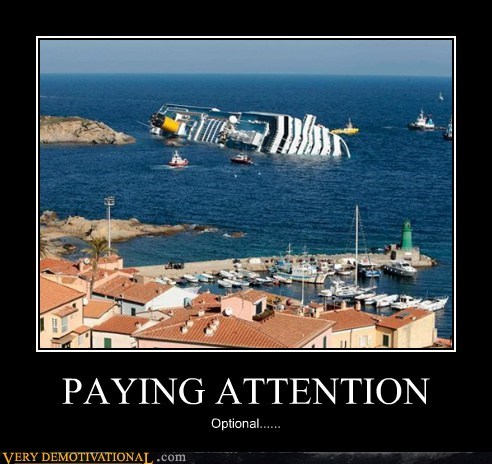 cruise idiots italian paying attention wtf - 5701123072