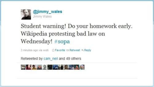internet blackout jimmy wales PIPA SOPA wikipedia - 5701189376