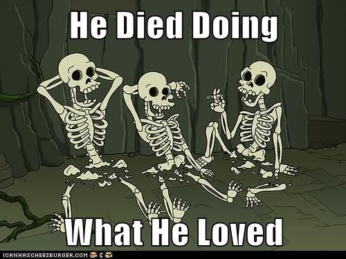 died,futurama,love,skeletons,snu snu