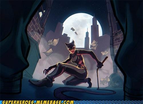 Awesome Art catowman dark alley thief - 5701269504