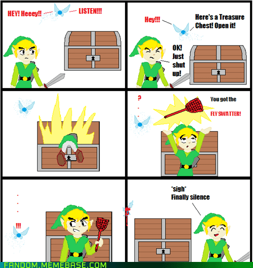 fly swatter,legend of zelda,navi,Rage Comics