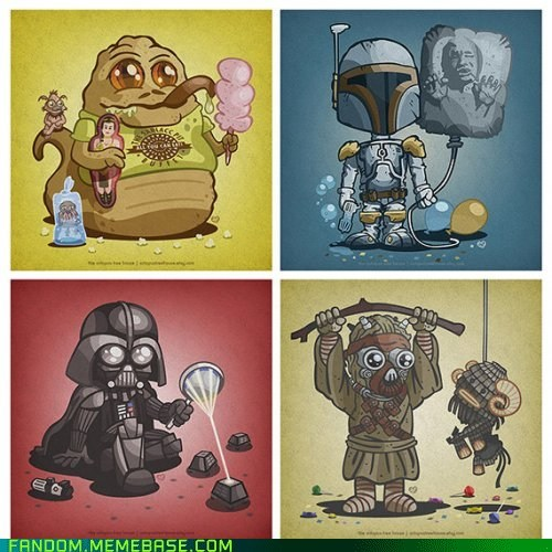 cute Fan Art kids sci fi star wars - 5701366784