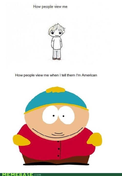 america,cartman,fat,How People View Me,South Park