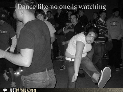 dance dance like no one is watching dancing funny face random woman ugly - 5701418752