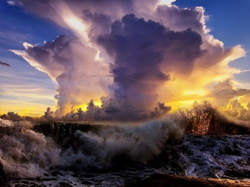 awesome clouds getaways mist sunrise unknown location user submitted water waves - 5701497088