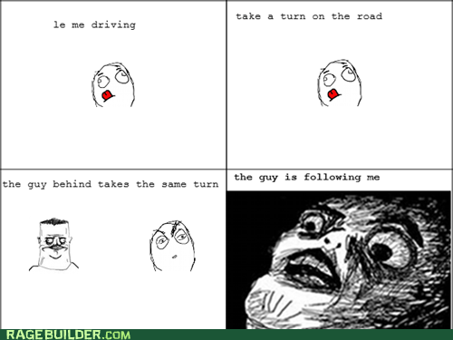 driving,paranoia,Rage Comics,raisin face
