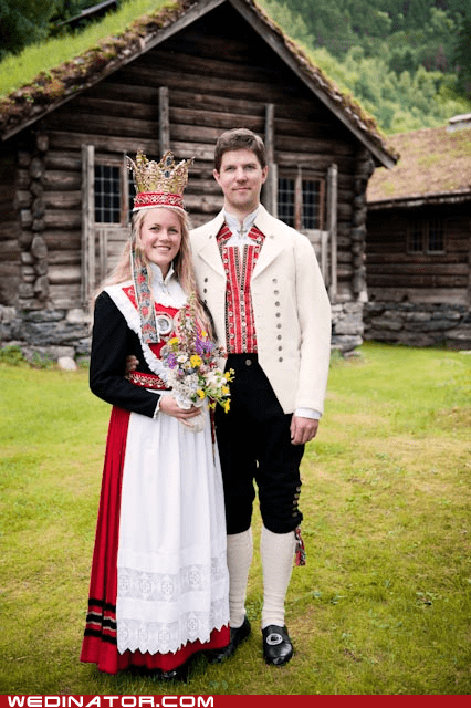bride funny wedding photos groom Hall of Fame Norway traditional - 5701622272