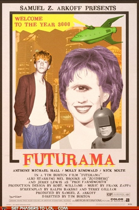 alternate universe,funny,futurama,Movie,poster