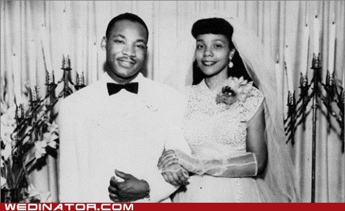 coretta scott funny wedding photos Martin Luther King mlk day - 5701663232