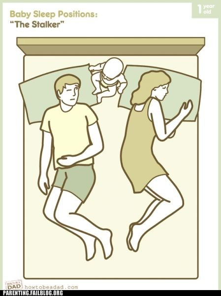 creeped out,sleep positions,sleeping with the baby