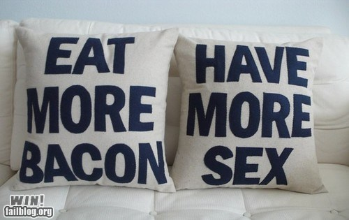advice bacon food g rated Hall of Fame life Pillow the deed true facts win