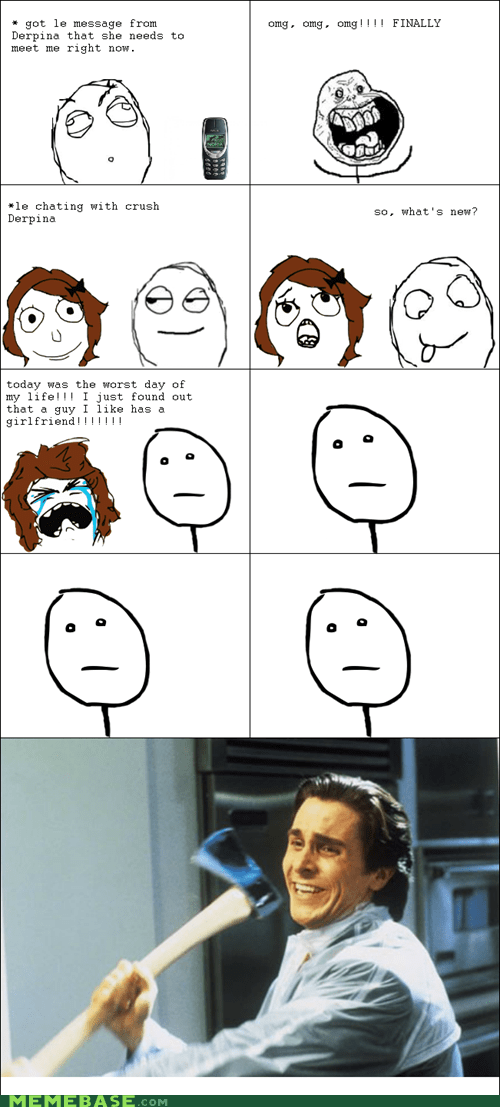 forever alone,friend zone,poker face,Rage Comics