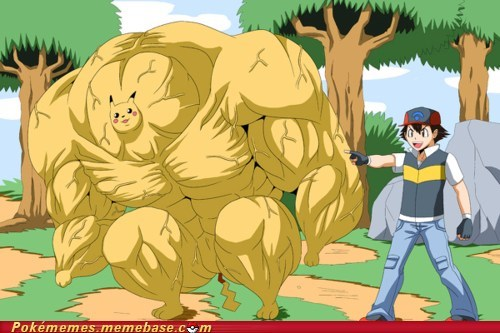 art,best of week,cute,pikachu,steroids
