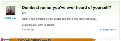 home school,lies,rumor,yahoo answers