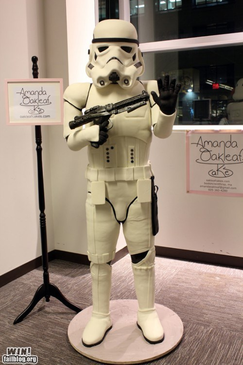 cake dessert food nerdgasm star wars stormtrooper - 5702464256