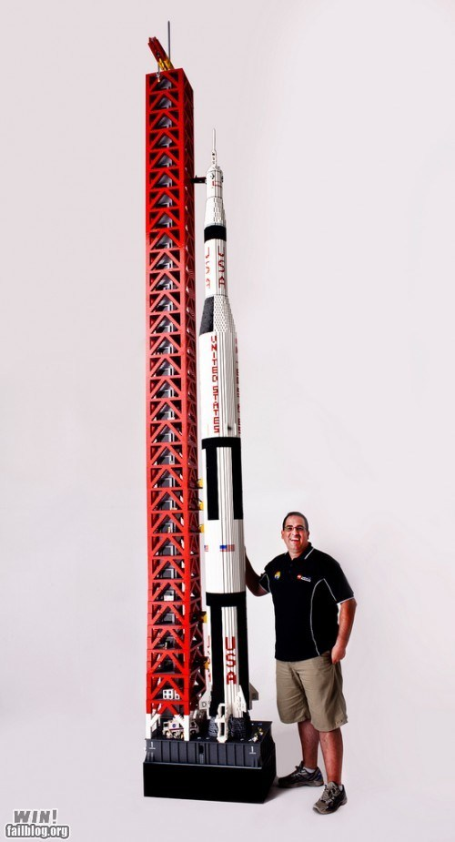 g rated lego model nasa nerdgasm replica rocket space win - 5702469120