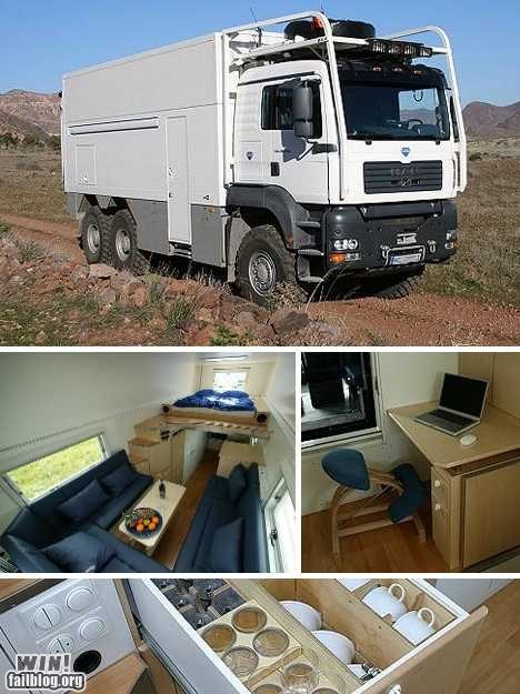 conversion,design,garbage truck,home,mobile home,repurposed