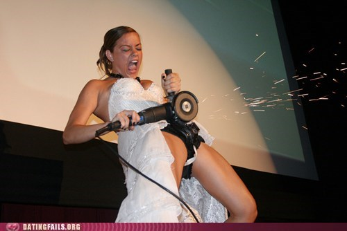 belt sander fun,chastity belt,the belt comes off,weddings