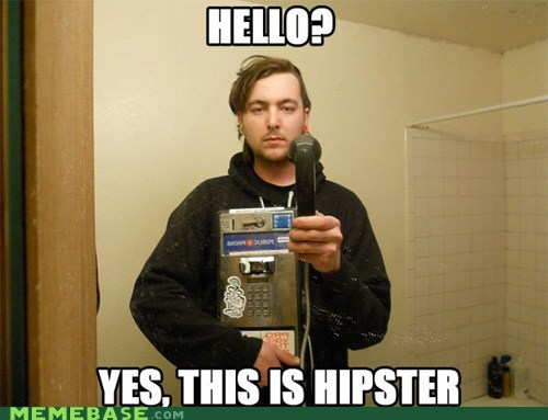dogs hello hipster Memes payphone phone - 5702684672