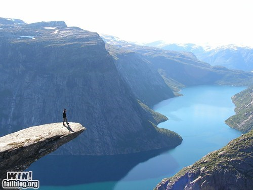 cliff landscape mother nature ftw Norway scenery vertigo view - 5702861568