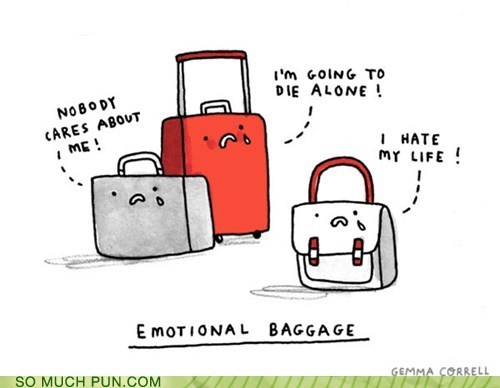 baggage double meaning emotional emotions Hall of Fame literalism misinterpretation - 5703014912