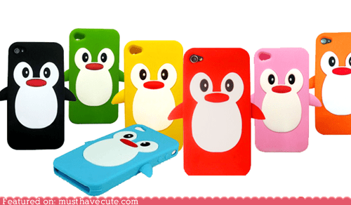 best of the week case colorful iphone iphone case penguin phone rainbow rubber - 5703021824