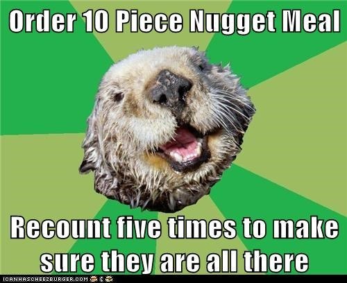 chicken nuggets counting food mcnuggets ocd OCD Otter otters - 5703445760
