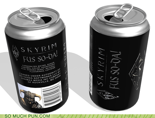 dovahkiin dragon shout fus ro dah Hall of Fame literalism similar sounding Skyrim soda - 5703498496