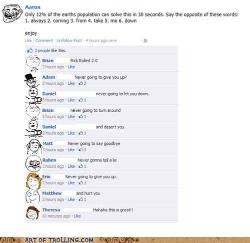 facebook,opposite,population,rick roll