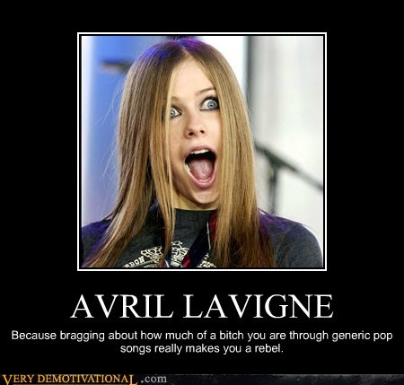 avril lavigne bad music idiots rebel wtf - 5703665152