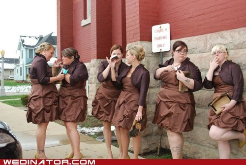 alcohol bridesmaids funny wedding photos smoking - 5703688704