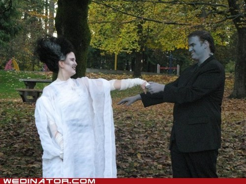 frankenstein,funny wedding photos,halloween