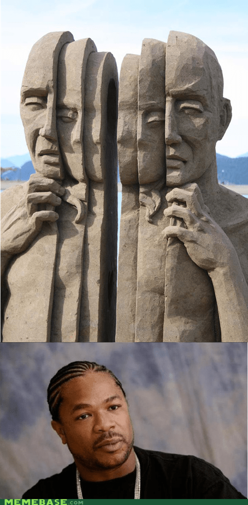people,sand,sculptures,yo dawg