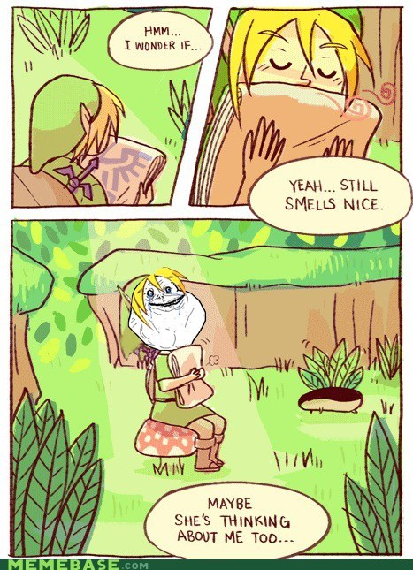 comic fandombase forever alone link smells video games zelda - 5704175872