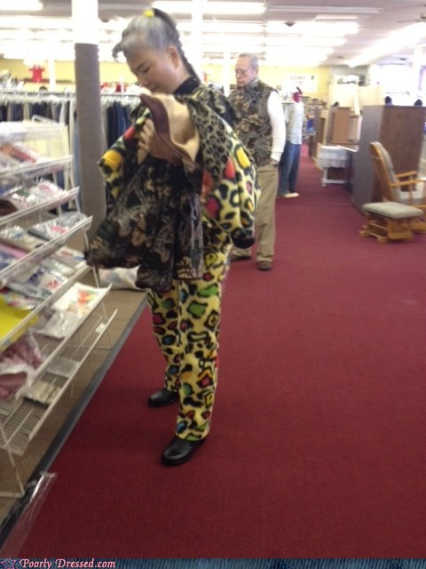 asians every kind of material leopard print out in public like that - 5704621312
