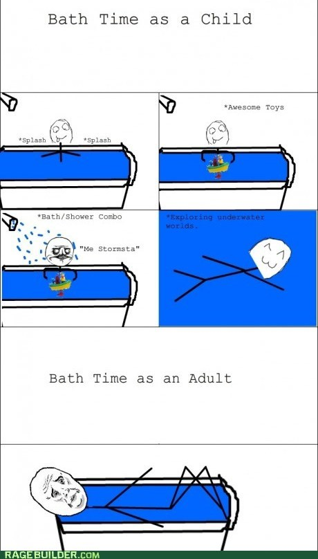bath time,growing up,Okay,Rage Comics